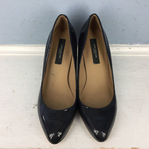 Ann Taylor 5 M Dark Gray patent Leather Heels pump